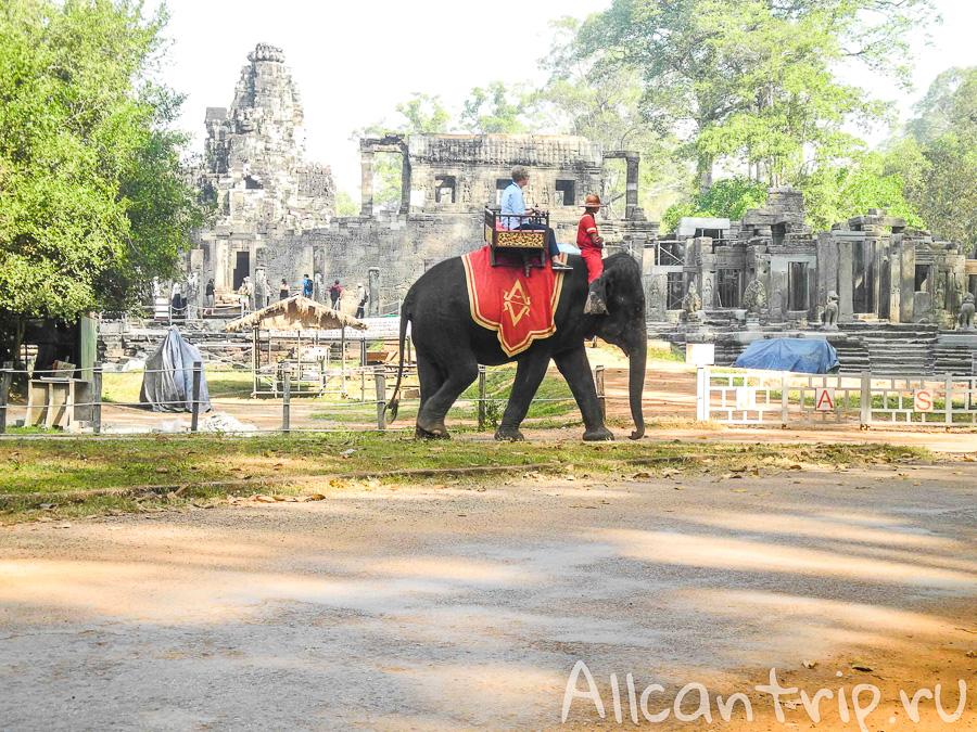 Храм Байон на территории Ангкора