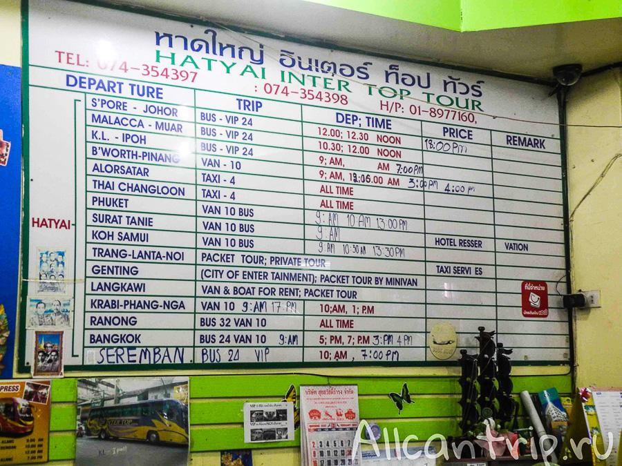 Расписание автобусов из Хатъяй