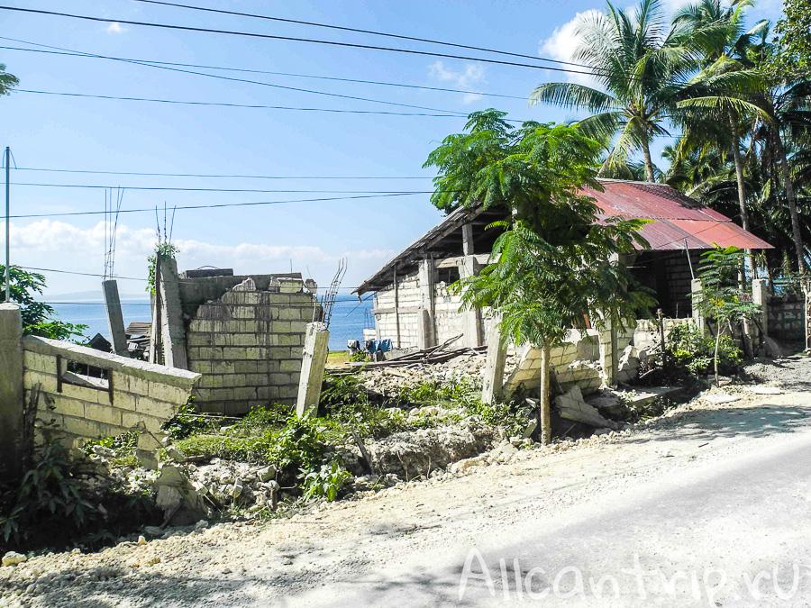 Разрушения на острове Бохол