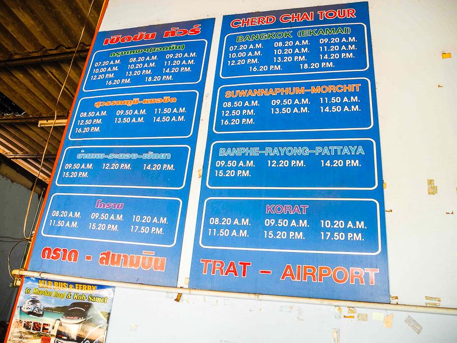 Расписание автобусов от Трата