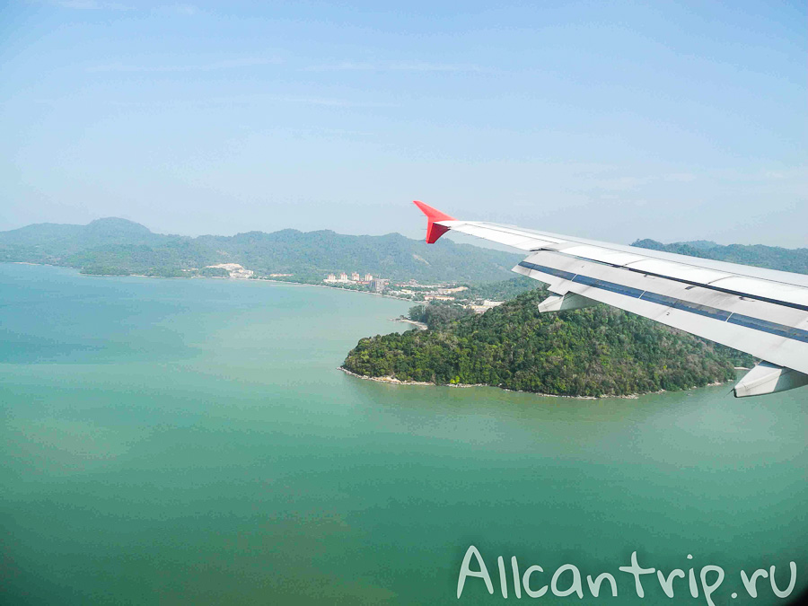 Вид на остров Пенанг Малайзия