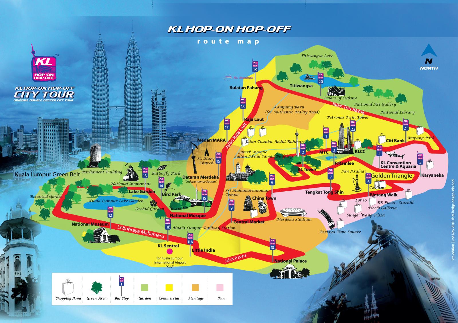 Карта маршрута hop-on hop-off