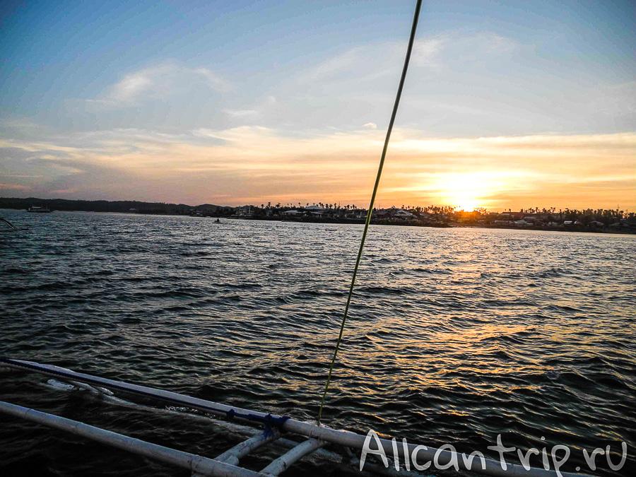 Закат с лодки на Себу