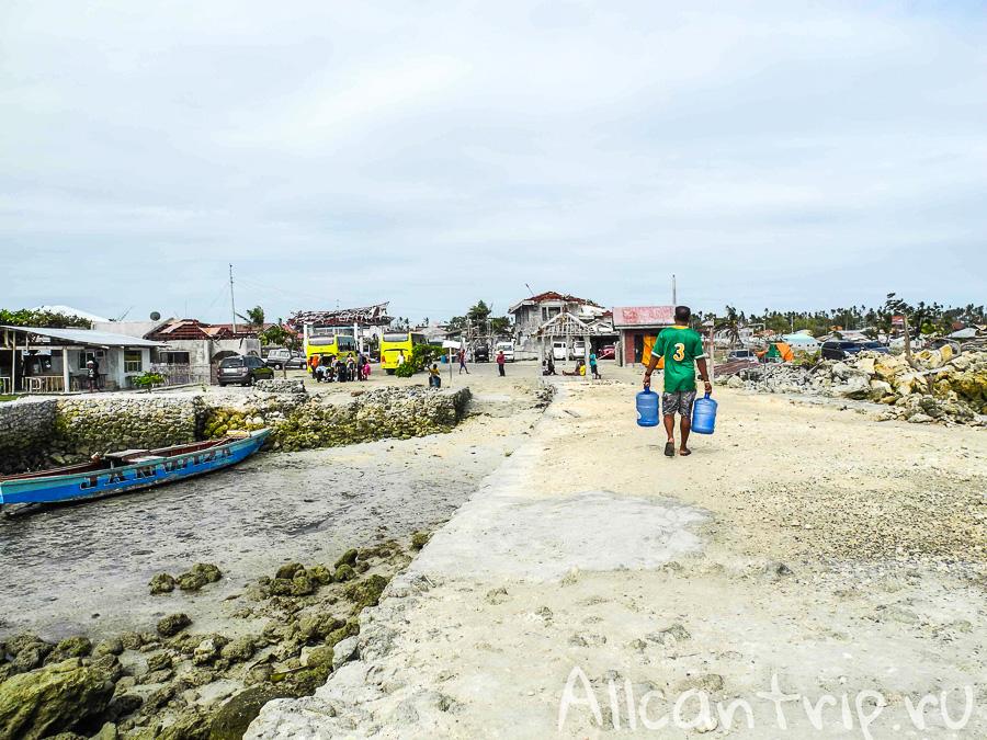 Пристань у поселка Майя на Себу
