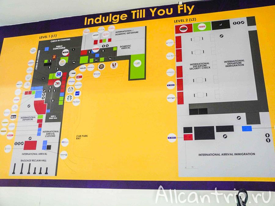 Схема Аэропорта Куала-Лумпур LCCT