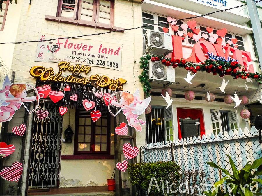 День Святого Валентина в Джорджтауне на острове Пенанг