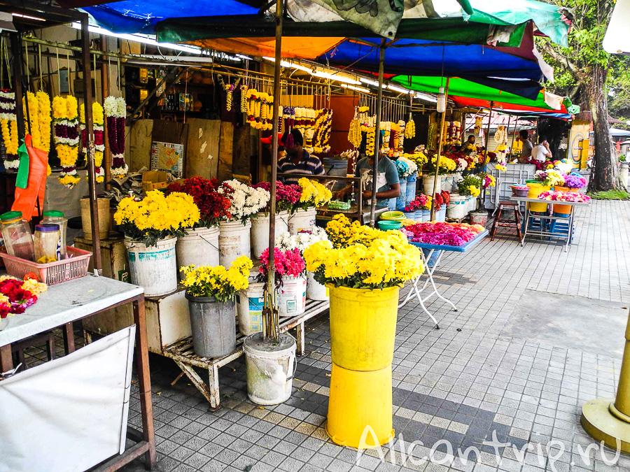 Цветочный базар в Джорджтауне на острове Пенанг