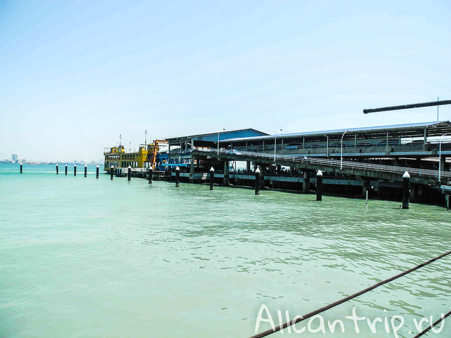 Пристань в Джорджтауне на острове Пенанг