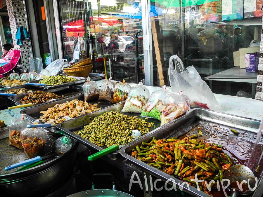 Уличная еда на Самсен роад Samsen road