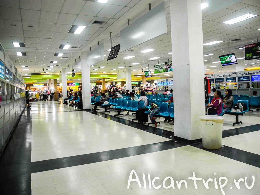 Кассы Южный автовокзал Бангкока Sai Tai