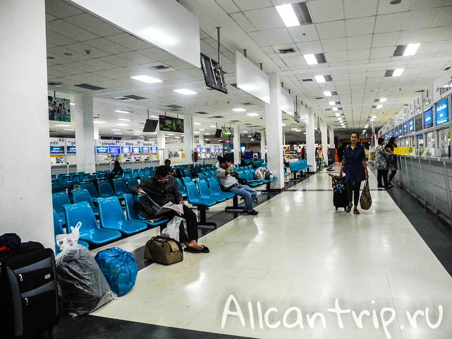 Южный автовокзал Бангкока Sai Tai Кассы