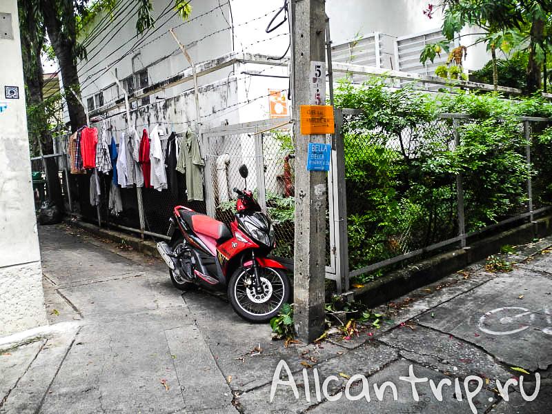 Район Samsen road в Бангкоке