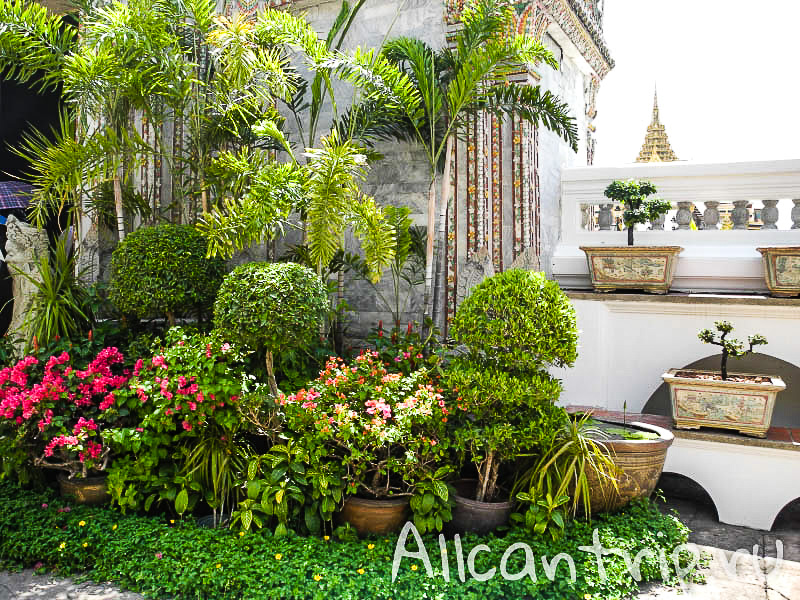 Территория Большого дворца в Бангкоке
