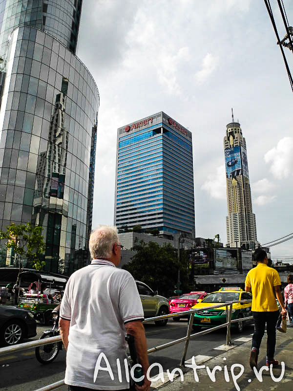 Центр Бангкока - вид на Байок Скай