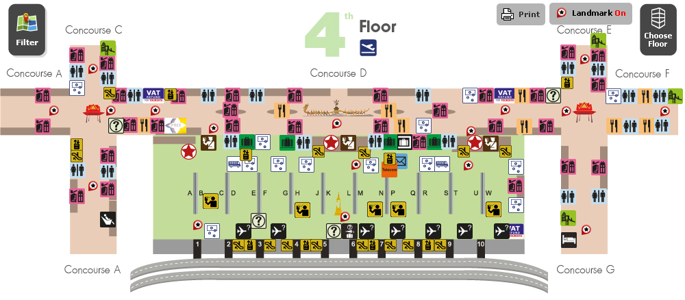 Схема аэропорта Суварнабхуми