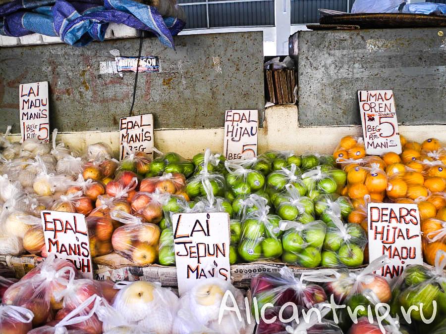 Яблоки в Кота-Бару