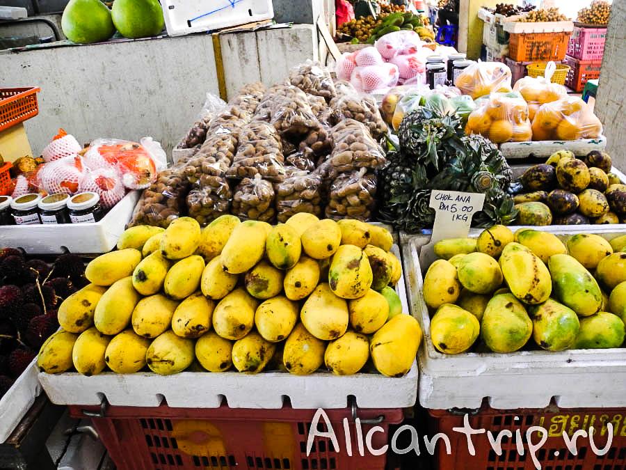 Манго на рынке в Кота-Бару