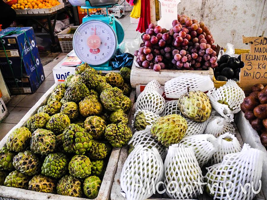 Нойна или сахарное яблоко в Кота-Бару