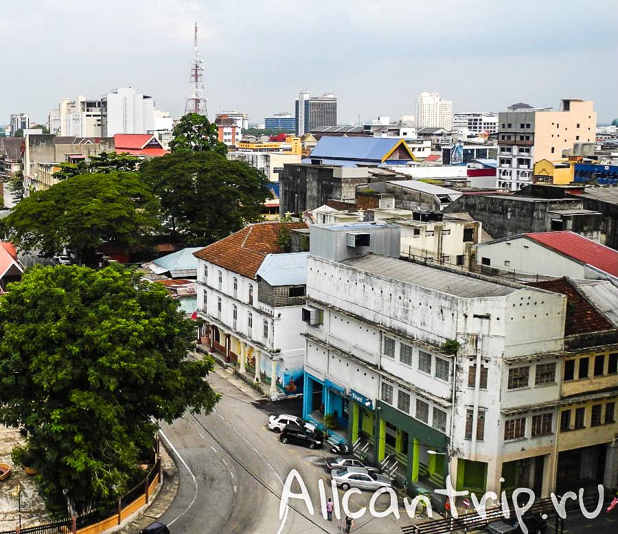 Вид сверху на Кота-Бару