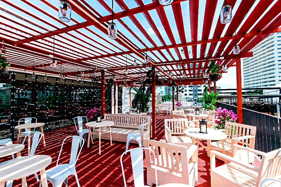 Кафе-сад на крыше