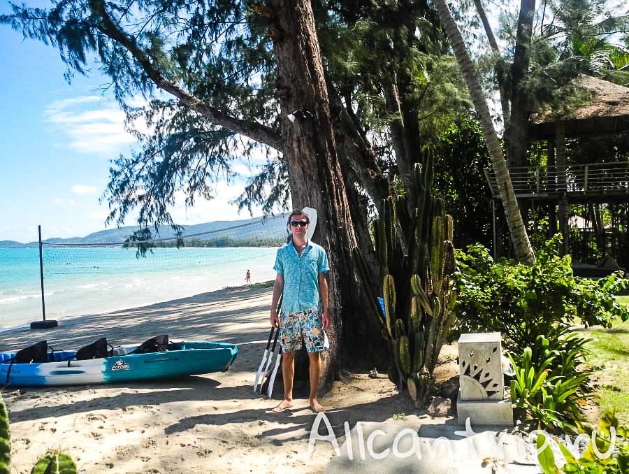 Пальмы на пляже Lipa Noi Samui