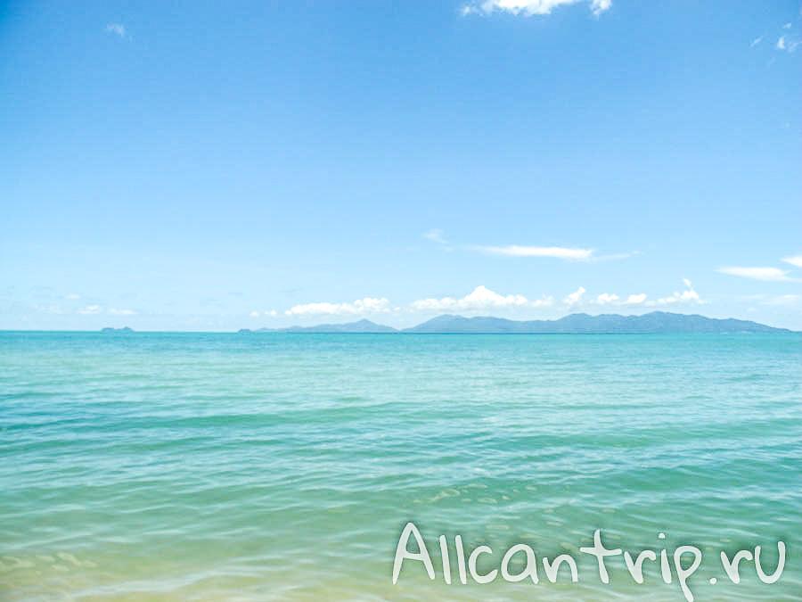 Вода пляжа Маенам на Самуи
