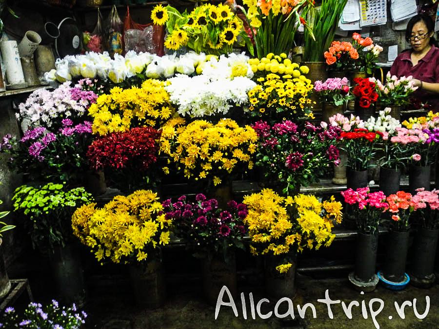 цветы на рынке в Малайзии