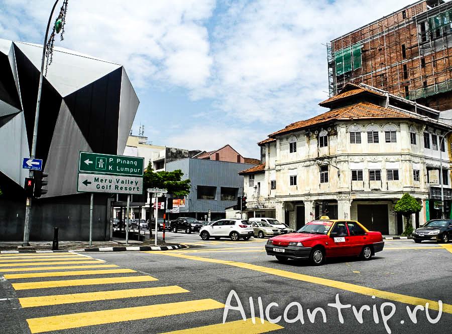 необычные здания голубая мечеть в городе Ипох Малайзия