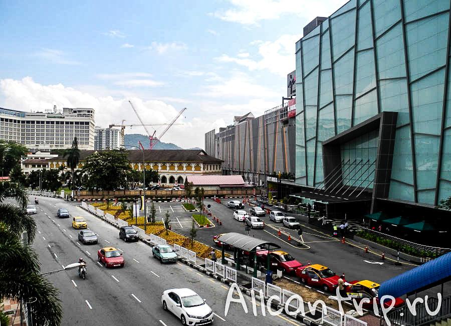 вид на улицу в городе Ипох Малайзия