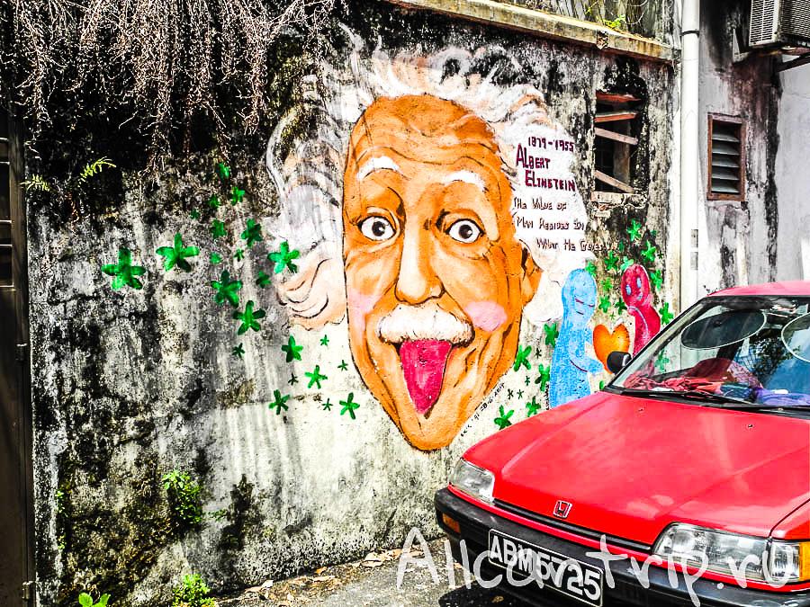 Эйнштейн на улицах Малайзии