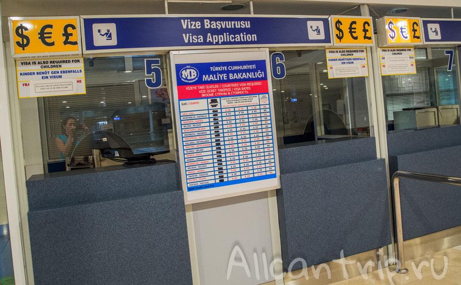 Получение визы в аэропорту анталии