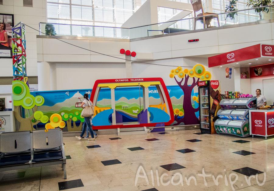 детская площадка в аэропорту анталии