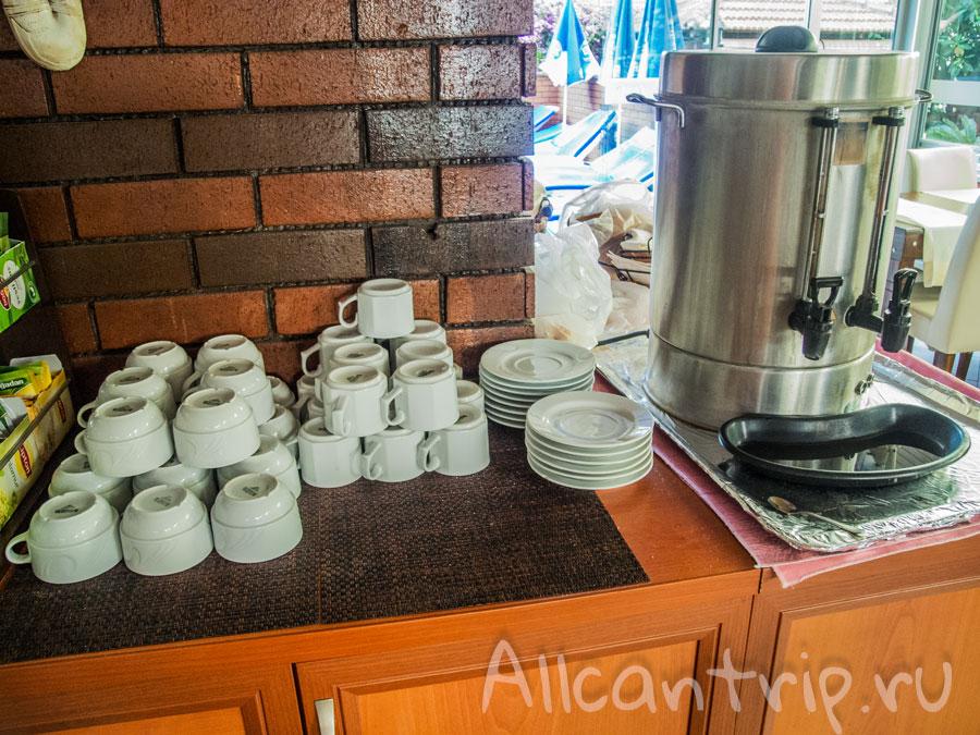 кофе в ozcan hotel