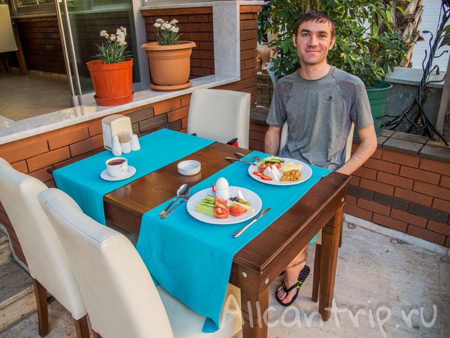 завтрак ozcan hotel Турция