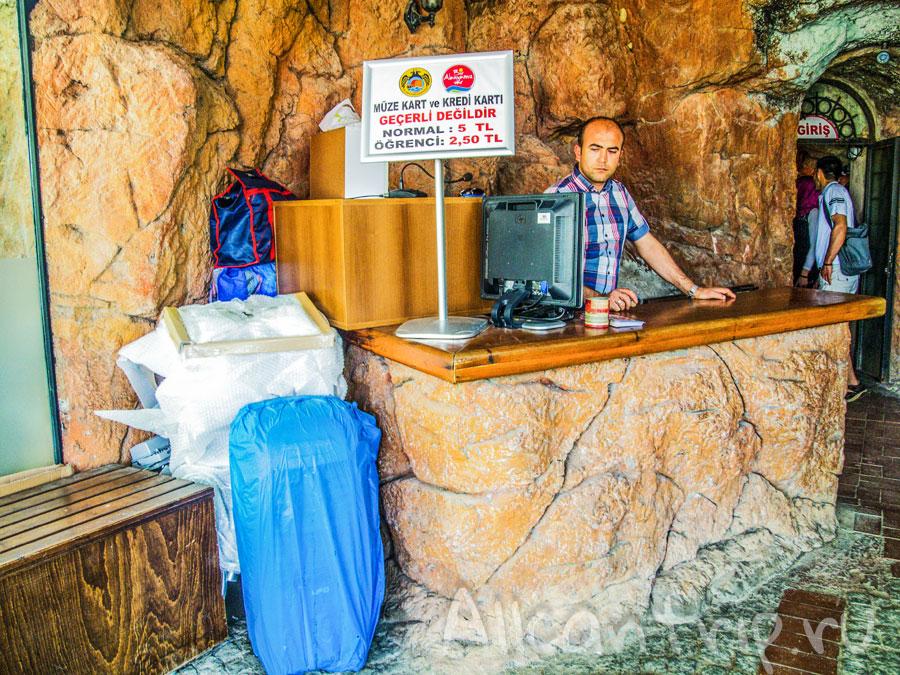 стоимость входа в пещеру дамлаташ