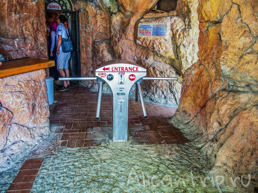 в пещере дамлаташ Алания