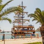 Пиратские корабли в Алании – прогулка по набережной и порт