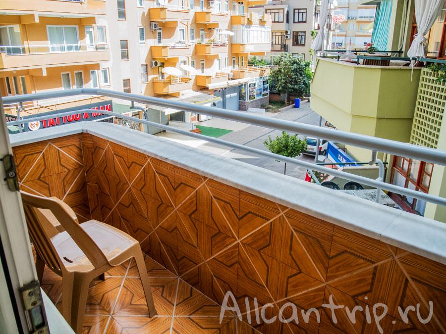 балкон в номере ozcan hotel
