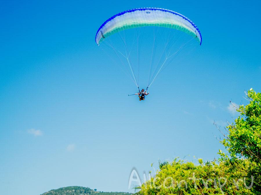 парашютист в Алании