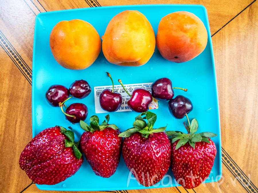 фрукты в алании в мае