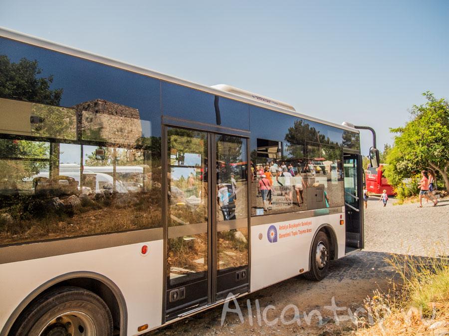 автобус до крепости алании