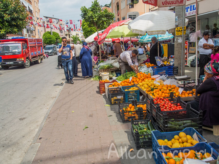 самый большой базар в Алании