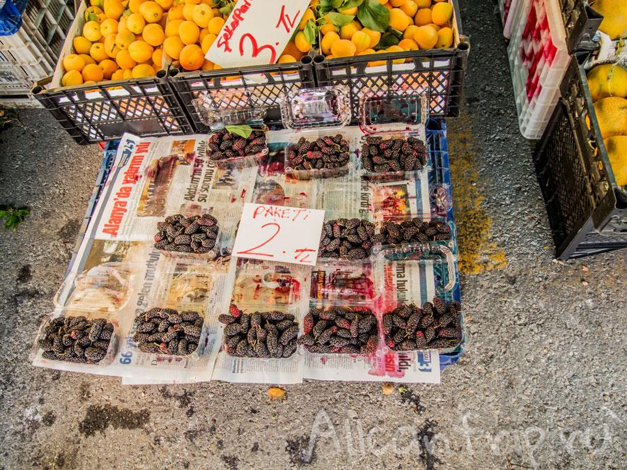 турецкий базар в Алании шелковица