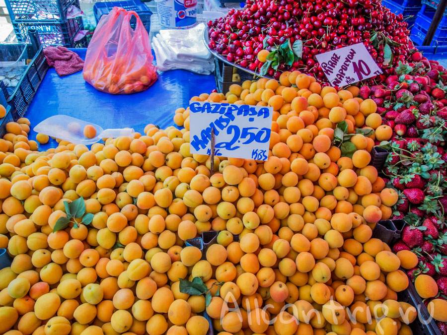 фрукты в алании
