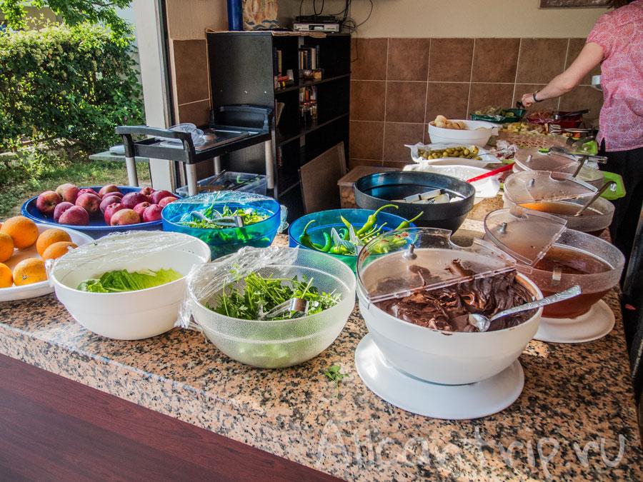 Еда в отеле Angora в Сиде