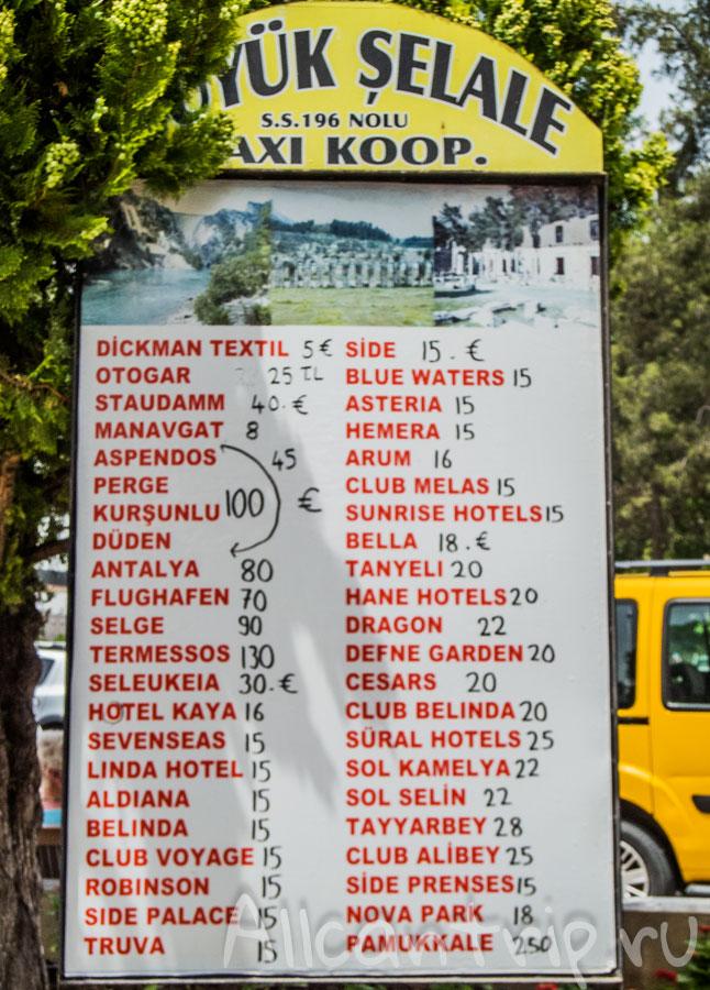 такси от водопада манавгата