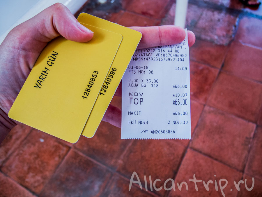сколько стоят билеты в аквапарк Анталии
