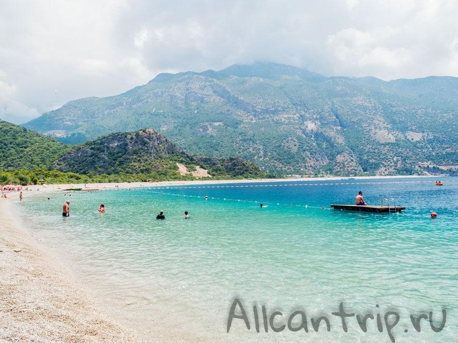 лучший пляж турции олюдениз