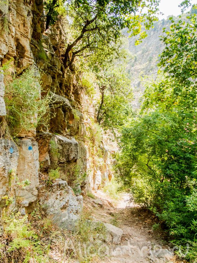 водопад в долине бабочек