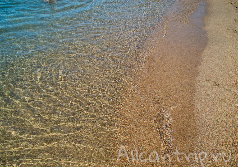песчаный пляж мармарис